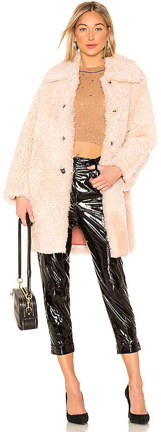 Meteo Lamb Fur Coat
