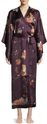 Meng Floral-Print Silk Kimono Caftan