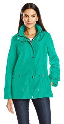 Details Women's Lightweight Water Resistant Jacket with Striped Print