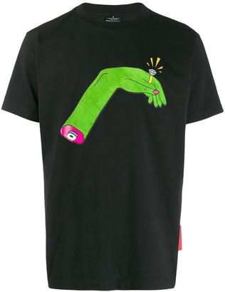 Marcelo Burlon County of Milan hand print T-shirt