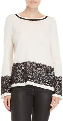 Qi Lace Trim Sweater