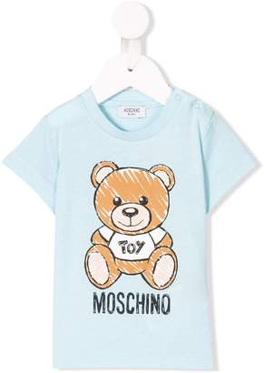 cc41c547 Moschino Kids logo bear print T-shirt