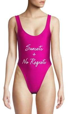Private Party Printed Bali One-Piece Swimsuit
