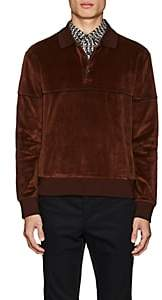 Prada Men's Cotton-Velour Polo Shirt - Brown