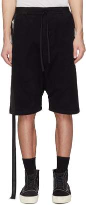 Taverniti So Ben Unravel Project Logo strap drop crotch sweat shorts