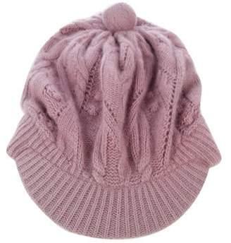 Dolce & Gabbana Slouchy Knit Beanie Mauve Slouchy Knit Beanie