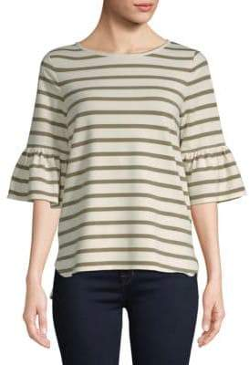Max Studio Three-Quarter Bell Sleeve Top