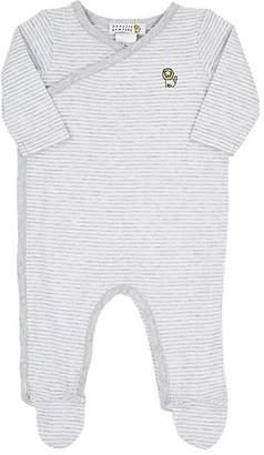 Barneys New York Infants' Striped Cotton Jersey Footie - Gray
