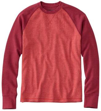 L.L. Bean L.L.Bean Men's Washed Cotton Double-Knit Crewneck, Slightly Fitted Long-Sleeve Colorblock