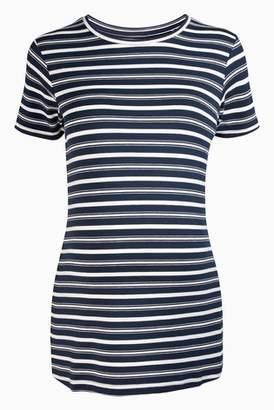 Next Womens Navy/White Maternity Jersey T-Shirt