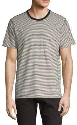 7 For All Mankind Striped Short-Sleeve Tee