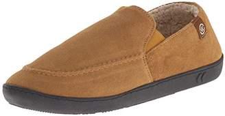 Isotoner Men's Suede Leather Slip On Flat