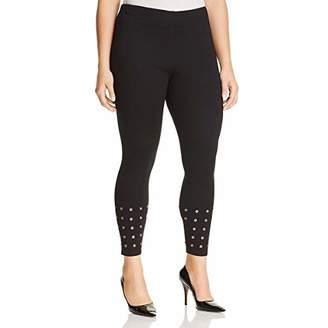Lysse Women's Plus Size Grommet Light Weight Ponte Legging