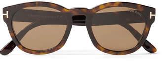 Tom Ford Bryan Round-Frame Tortoiseshell Acetate Sunglasses