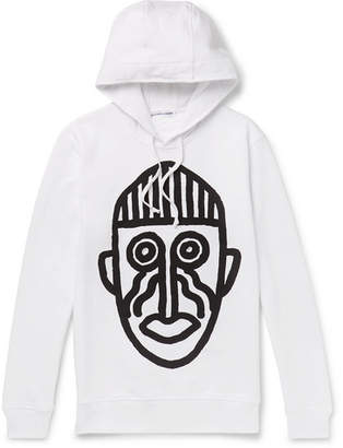 Comme des Garcons Printed Loopback Cotton-Jersey Hoodie - Men - White