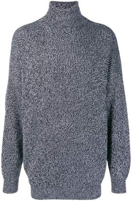 Balenciaga oversized polo neck jumper