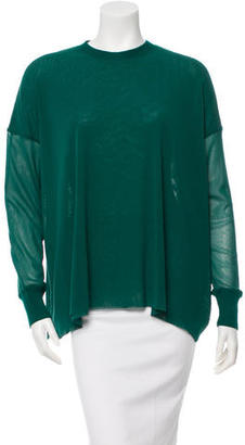 Jean Paul Gaultier Long Sleeve Mesh Top $125 thestylecure.com