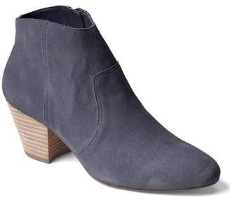Suede western ankle booties $98 thestylecure.com