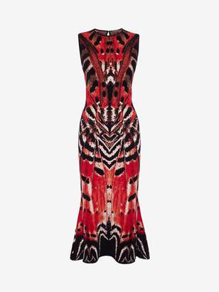 Alexander McQueen Butterfly Jacquard Midi Dress