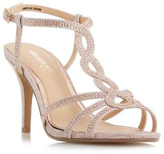 Head Over Heels by Dune - Rose 'Mamboo' Mid Stiletto Heel T-Bar Sandals