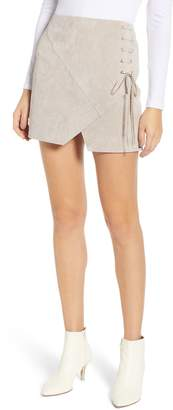 Blank NYC BLANKNYC Lace-Up Suede Miniskirt