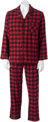 Hanes Big & Tall Plaid Flannel Pajama Set