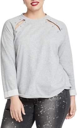 Rachel Roy Henry Pierced Sweatshirt