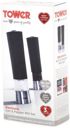 Tower Set of 2 Electric Salt and Pepper Mills