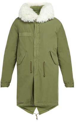 Mr & Mrs Italy Shearling Trimmed Cotton Parka - Mens - Green