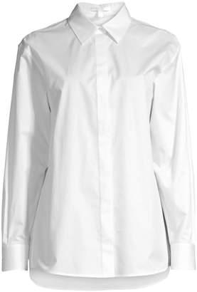 BOSS Beeka Crisp Stretch-Cotton Blouse