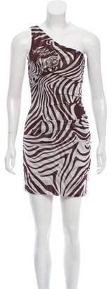 Diane von Furstenberg One-Shoulder Zebra Print Dress
