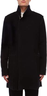 Primordial Is Primitive Wool Raw Edge Asymmetric Coat