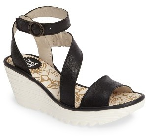 Women's Fly London 'Yesk' Ankle Strap Wedge Sandal $179.95 thestylecure.com
