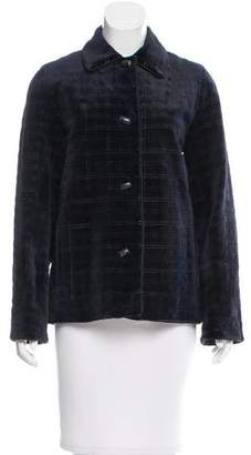 Zandra Rhodes Sheared and Quilted Mink Jacket w/ Tags