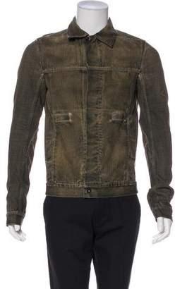 Rick Owens Denim Button-Up Jacket