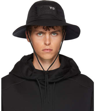 Y-3 Y 3 Black AdiZero Bucket Hat