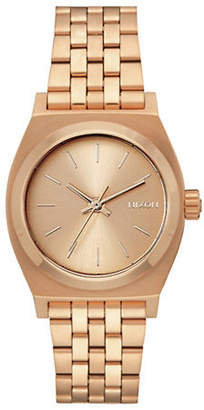 Nixon Analog Medium Time Teller Rose-Goldtone Bracelet Watch