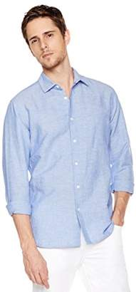 Isle Bay Linens Men's Long Sleeve Woven Shirt Slim Fit L