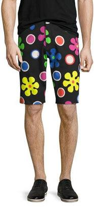 Moschino Psychedelic Flower Print Shorts, Black $350 thestylecure.com
