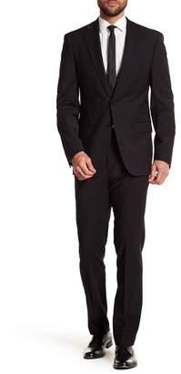 """Calvin Klein Solid Black Wool Suit Pants - 30-34\"""" Inseam"""