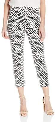 Karen Kane Women's Diamond Print Cropped Pant