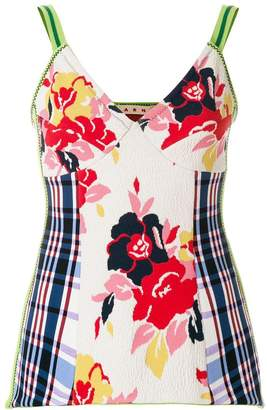 Marni textured floral camisole