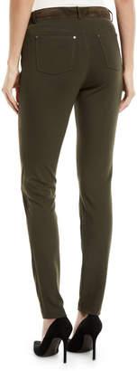 Lafayette 148 New York Mercer Skinny Suede & Ponte Pants