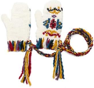 Etro tassel detail knitted gloves