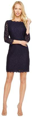 Adrianna Papell L/S Lace Dress Women's Dress