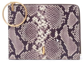 THACKER Gable Snake Embossed Leather Organizer Pouch