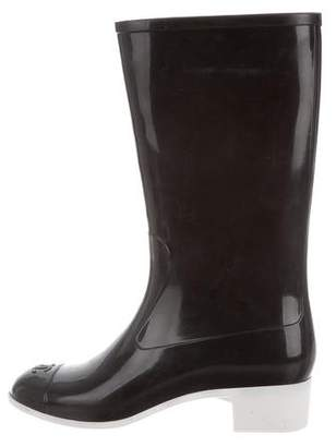 Chanel Rubber Knee-High Boots