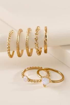 francesca's Peyton Ring Set - Iridescent