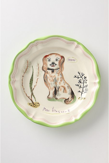 Francophile Dinner Plate, Dog