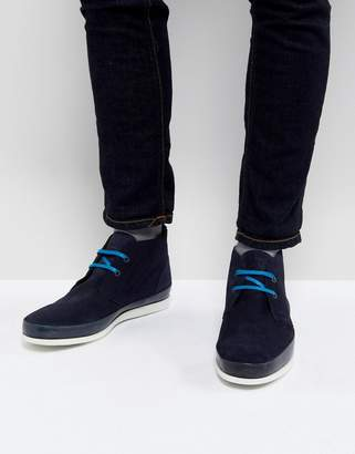 Paul Smith Cleon Suede Chukka Boot In Navy